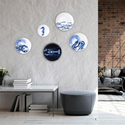 Hamilton tobacco & gifts - Delfts blauwe dieren wandborden